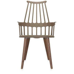 Comback 4-Leg Chair Side/Dining Kartell hazel body / oak stained legs
