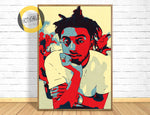 Amine Print,Amine Poster,Amine Art Giclee Print,Music Poster,Hip Hop,Instant Download,Digital Print,Rap Poster,Pop Art,Home Decor Wall Art