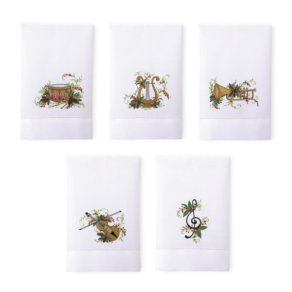 Christmas Quartet Guest Towels