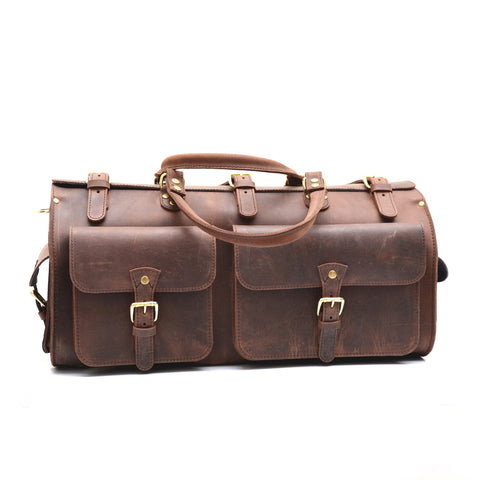 Weekender Duffle Bag - Vintage Leather