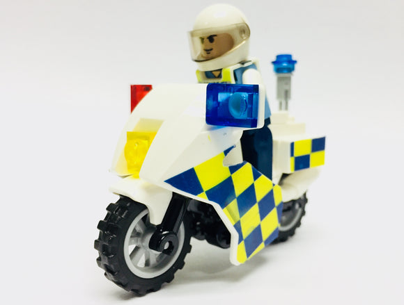 Police Motorcycle w Police Traffic Blue