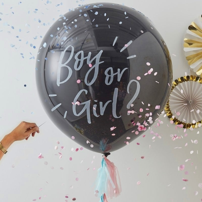 Giant Gender Reveal 'Boy or Girl?' Confetti Balloon