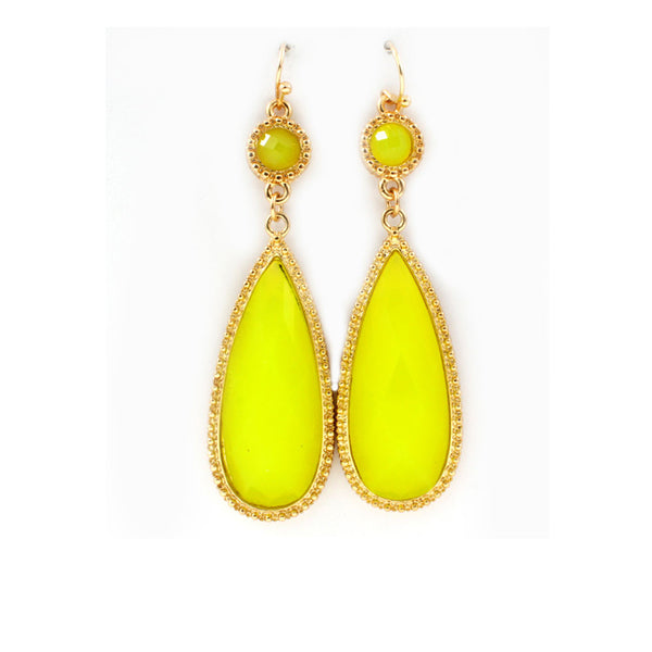 Fancy Yellow Teardrop Earrings