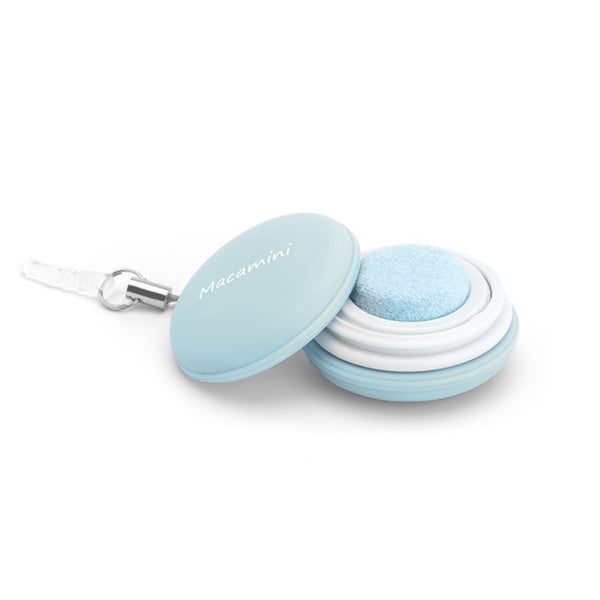 Pastel Blue Macamini Phone Charm & Cleaner
