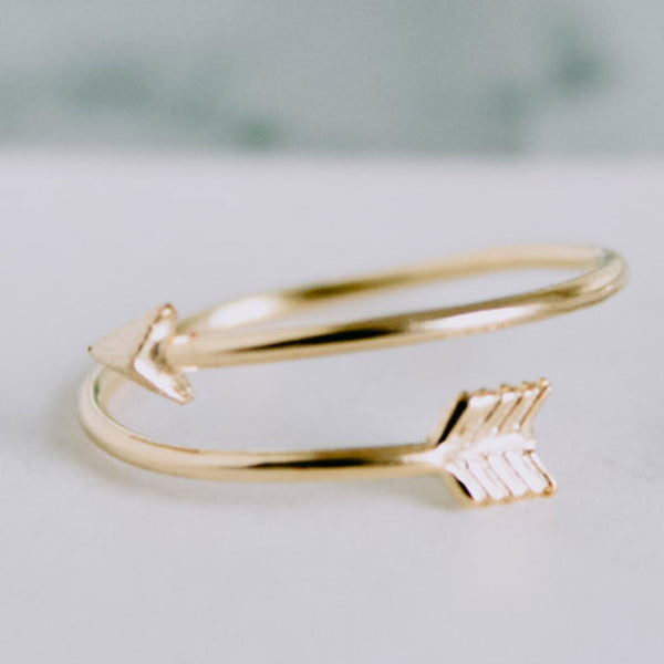 As Seen on the Today Show! Gold Plated Delicate Arrow Ring