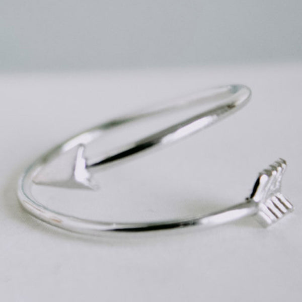 Platinum Plated Delicate Arrow Ring