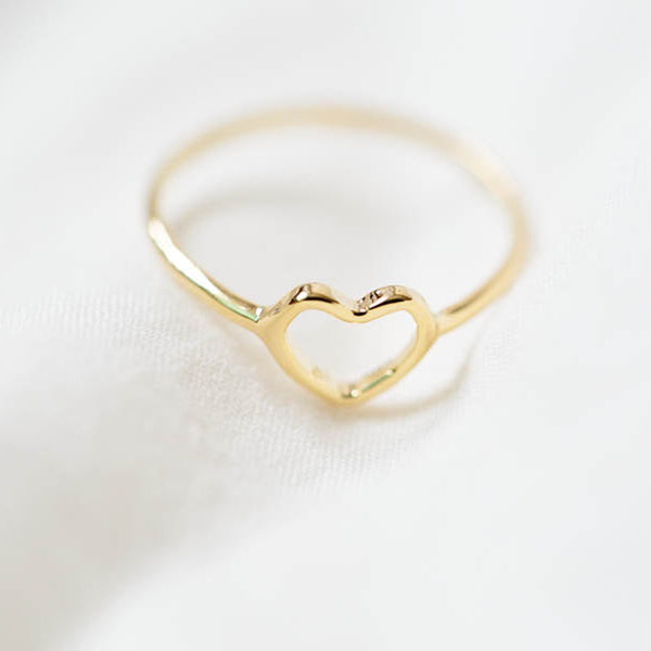Gold Mini Heart Knuckle Ring