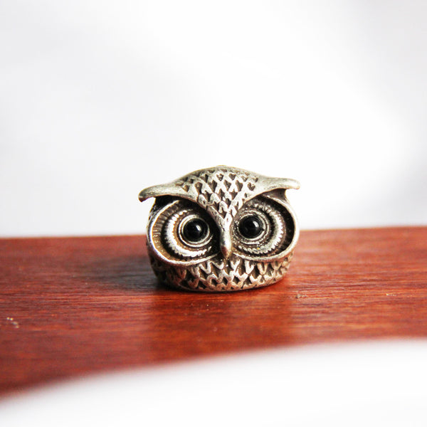 Vintage Style Owl Statement Ring