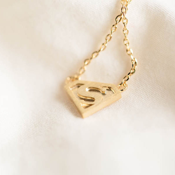 Superman Necklace in Gold