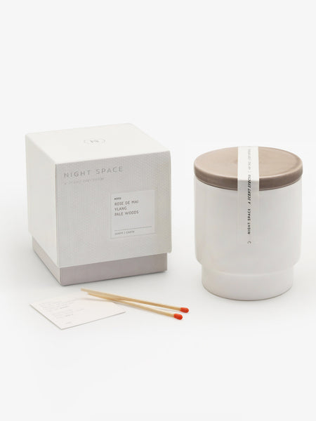 Taupe Candle by Night Space