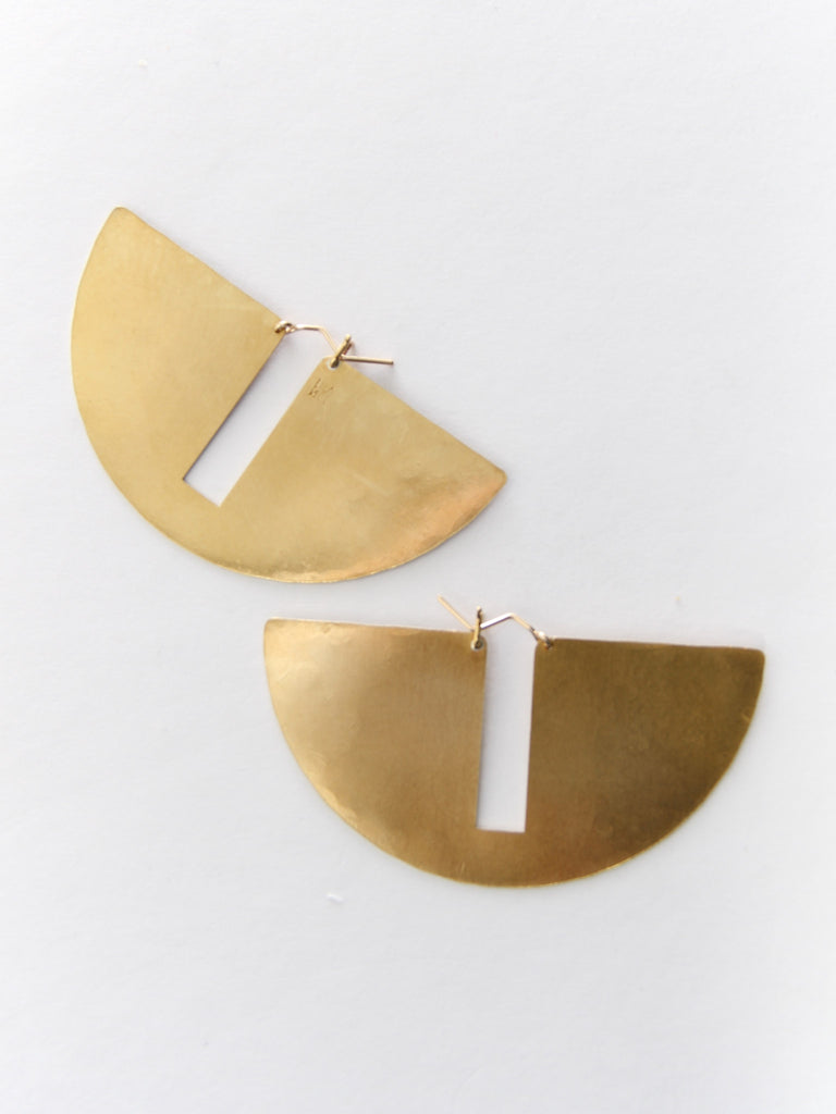 Gap Hoops - Brass by Lila Rice
