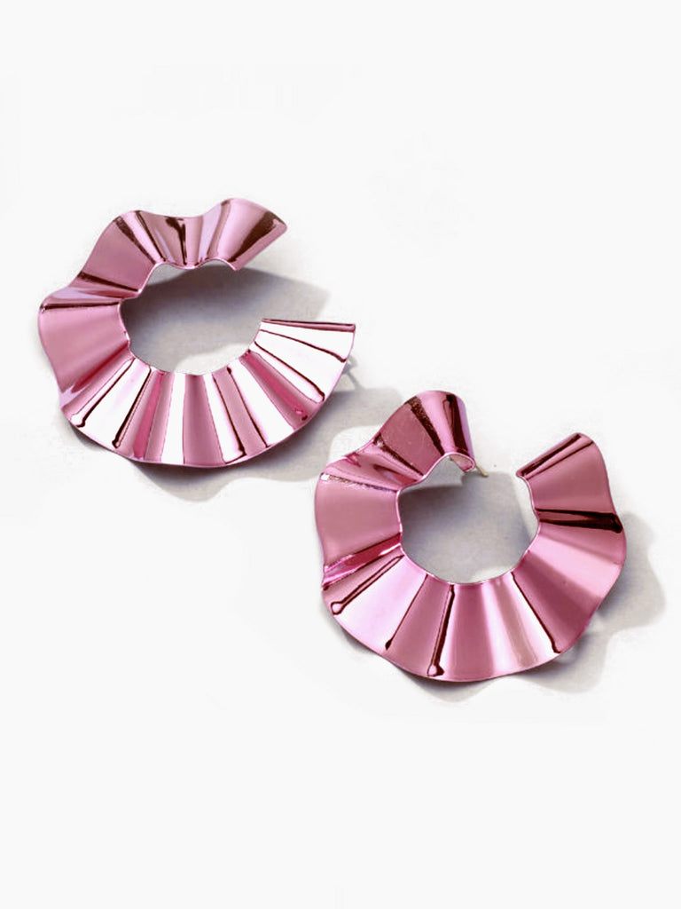 Large Ravioli Earrings - Light Pink by Gaviria