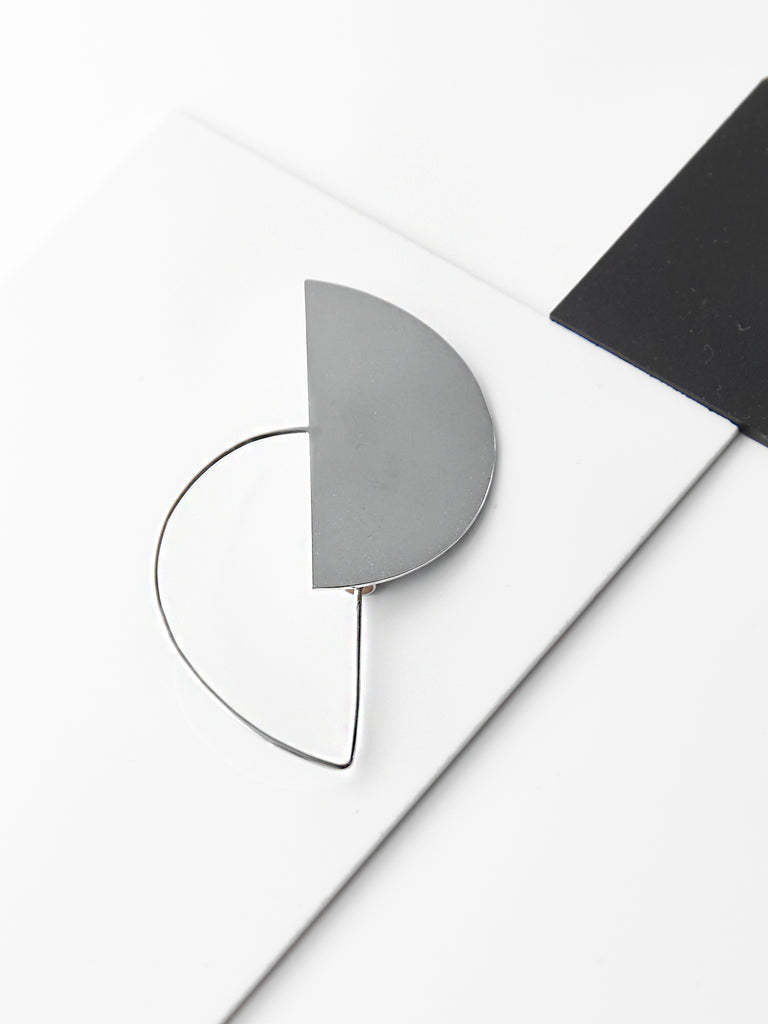Half Disc Contour Brooch by Ladies and Gentlemen Studio