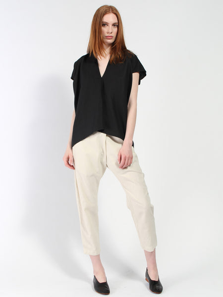 Everyday Top Linen/Cotton - Black by Miranda Bennett