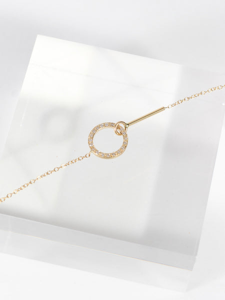 Visata Necklace with Diamonds by Still House