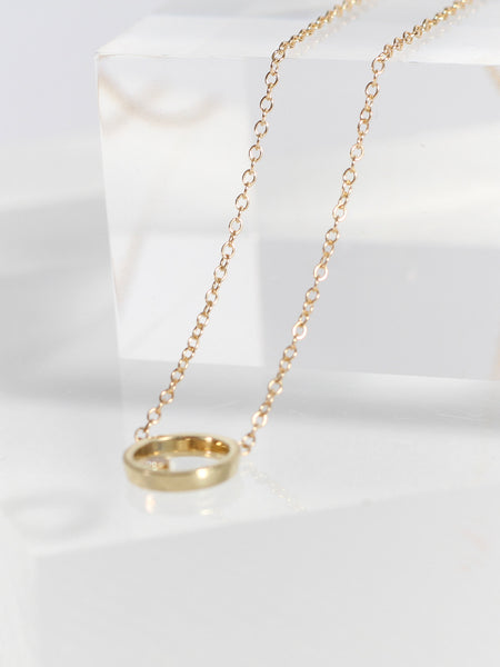 Ila Necklace Gold White Diamond by Still House