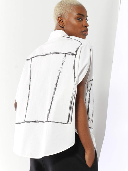 Hand Drawn Top by MM6 Maison Margiela