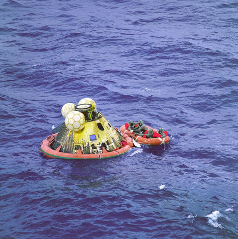 Apollo 11 crew returns to Earth