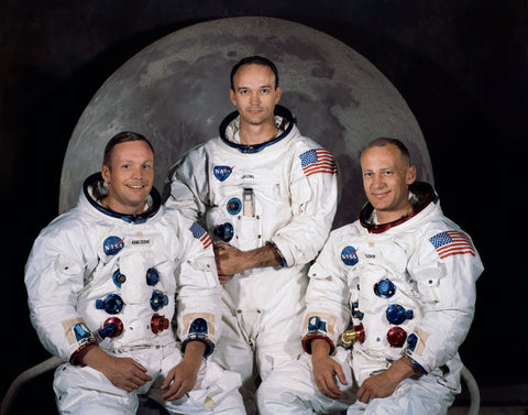 Neil Armstrong, Michael Collins, and Buzz Aldrin - Apollo 11 Moon Landing Crew