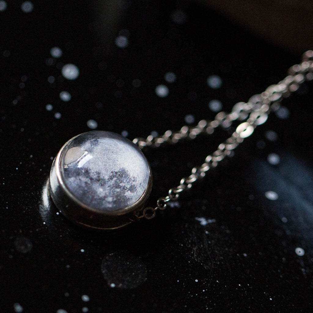Custom Personalized Moon Date Necklace - celebrate multiple dates, birthdays or anniversaries - personalized cosmic moon phase jewelry by Yugen Tribe