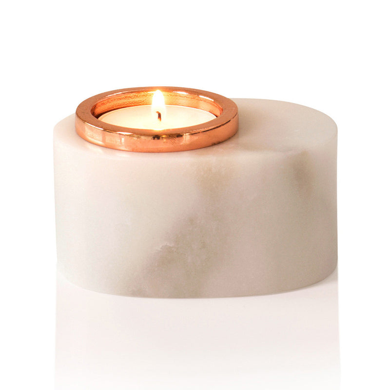 Michael Anthony Furniture Marble Oval Tea Light Candle Holder