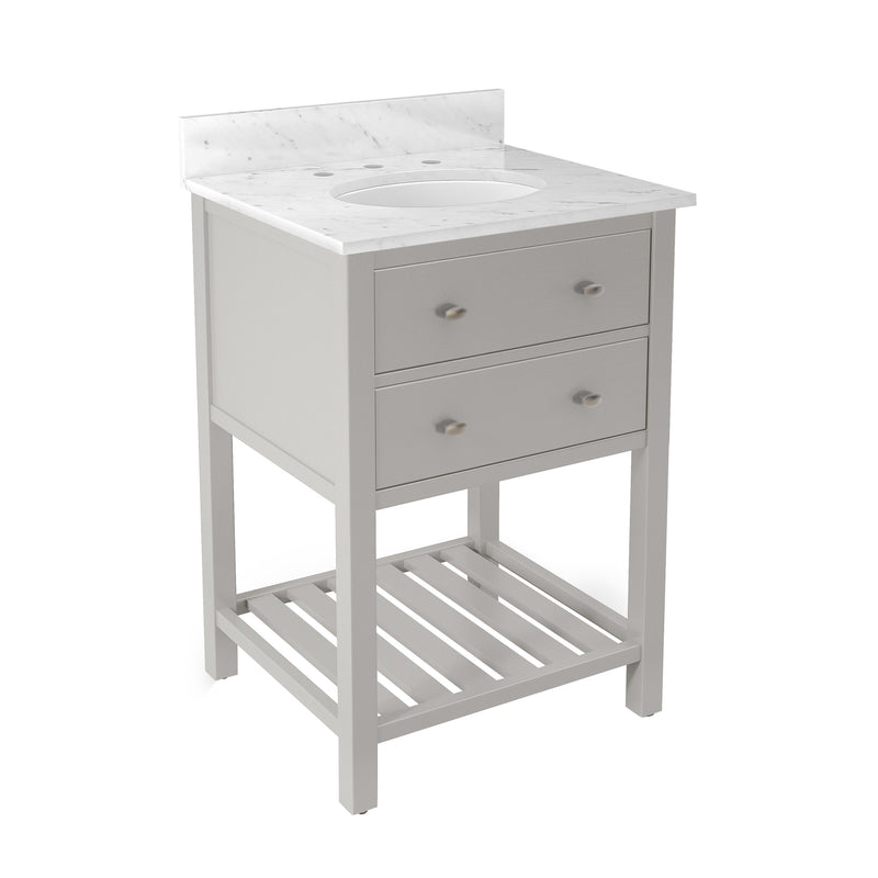 Lovington Gray Bath Vanity with Marble Top