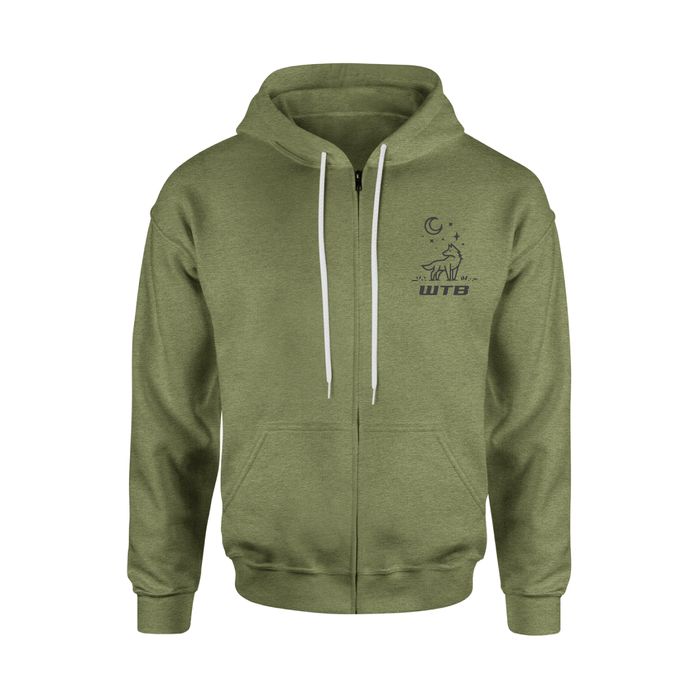 WTB Adventure Zip-Up Hoodie (Olive)