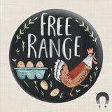Free Range Big Magnet by Rebecca Jones