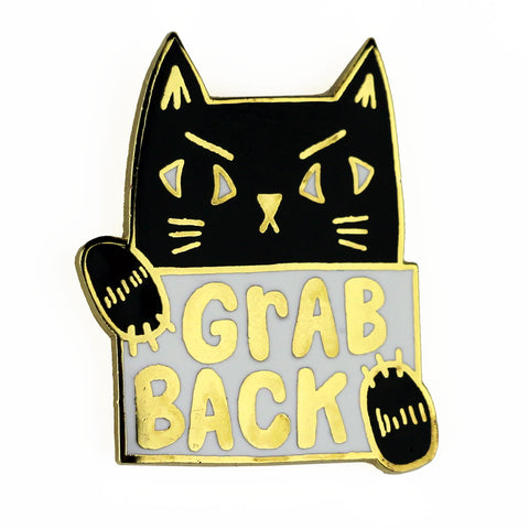 Grab Back Pussy Cat Enamel Pin