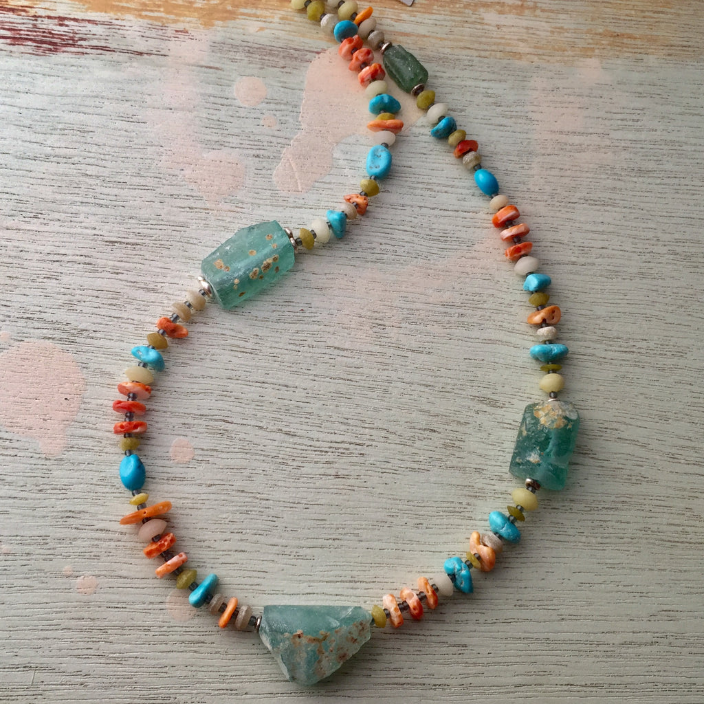 Ancient Glass & Turquoise