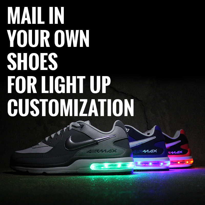 Provide Your Own Air Max Shoes For Light Up Customization - Evolved Footwear