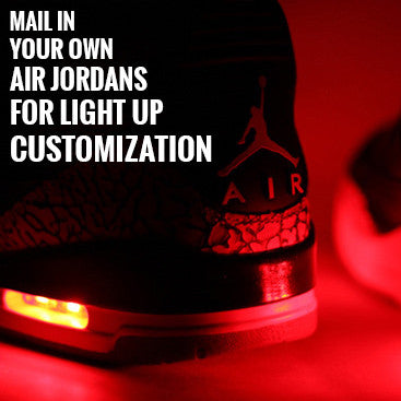 PROVIDE YOUR OWN AIR JORDAN SHOE FOR LIGHT UP CUSTOMIZATION