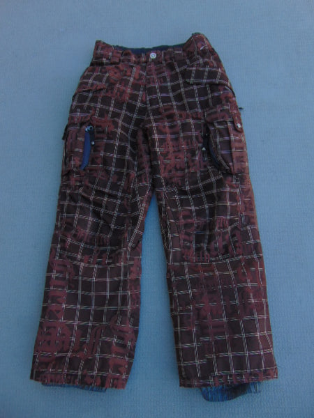 Snow Pants Child Size 10 Firefly Brown Multi Snowboarding