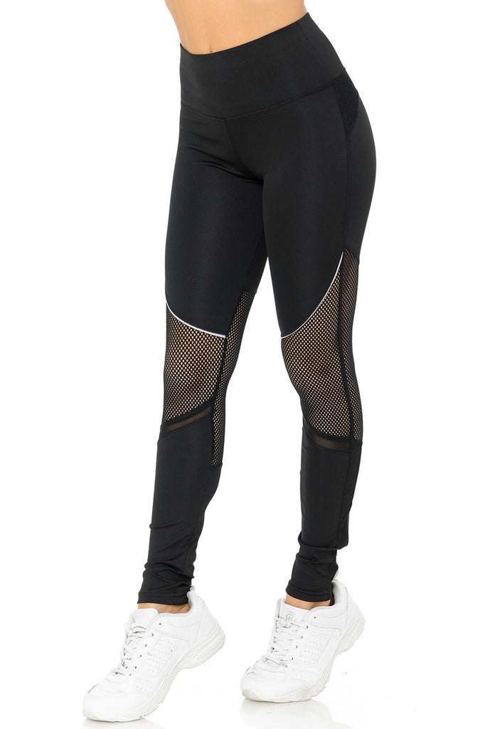 CONTOURED MESH LEGGINGS