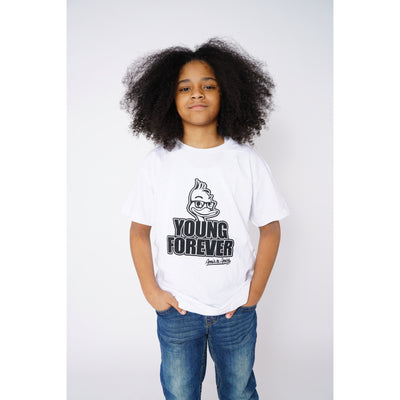 Boys Young Forever White T-Shirt