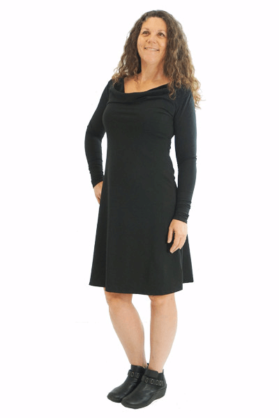 Cowl Dress :: Long Sleeve