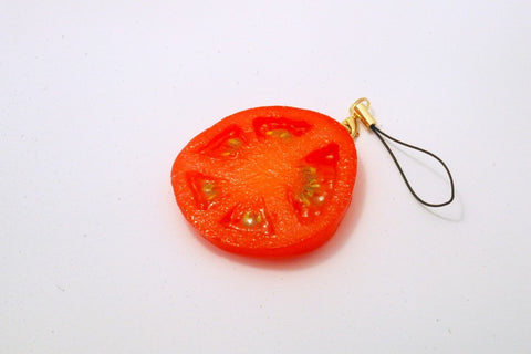 Sliced Tomato Cell Phone Charm/Zipper Pull