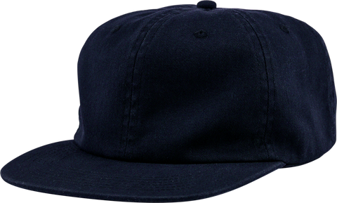 6-Panel Unstructured Flat Square Bill - Navy