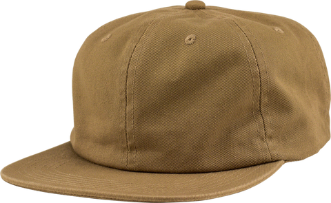6-Panel Unstructured Flat Square Bill - Khaki