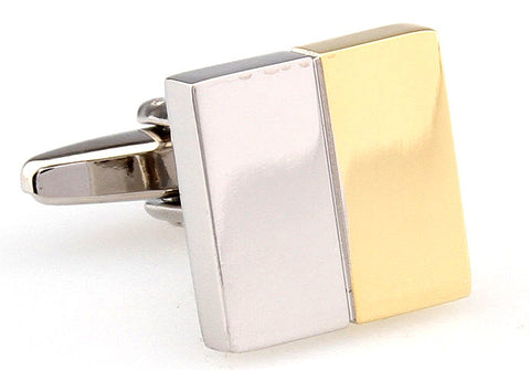 Gold and Silver Square Classic Cufflinks - Made in Heaven