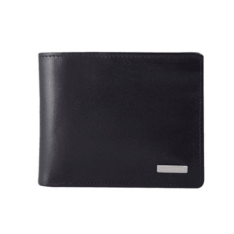 Black Customizable RFID Protection Leather Wallet - Wachterlein
