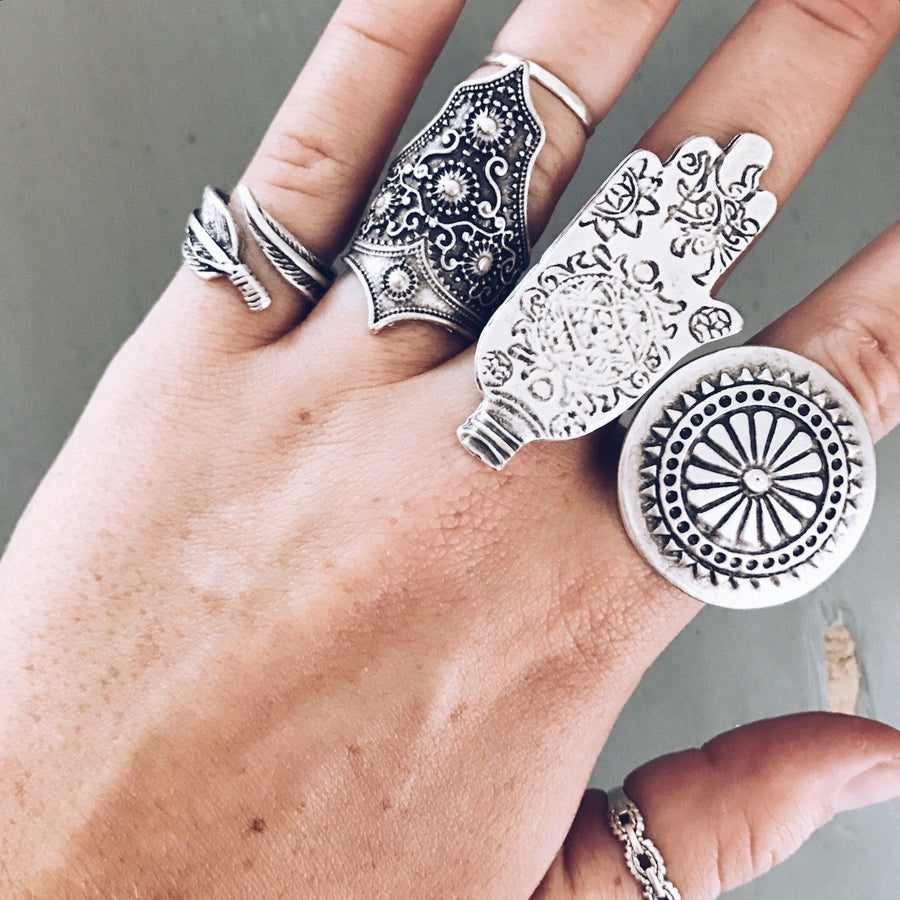 "Anatolian Ring - ""Ornate Hamsa"" - Ring - Bohemian Jewellery and Homewares - Lost Lover"