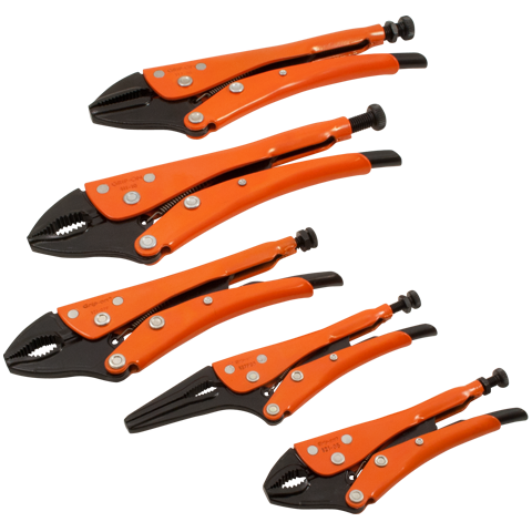 grip on 5 pieces general service set distributed by gray tools