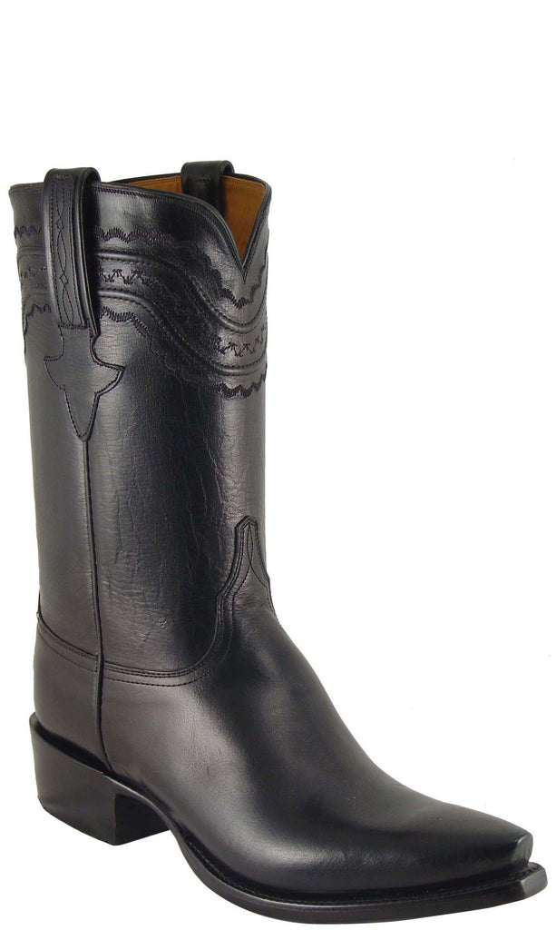 Lucchese Classics L1617 Mens Black Buffalo Cowboy Boot