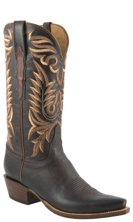 Lucchese Classics L1670 Mens Chocolate Burnished Mad Dog Goat Cowboy Boots
