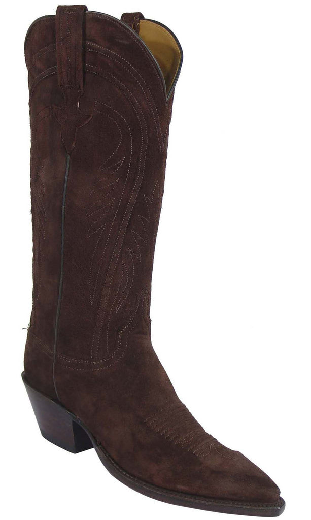 Lucchese Classics L4574 Womens Chocolate Suede Boot