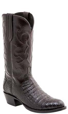 Lucchese CHARLES M1637.R4 Men's Black Cherry Belly Crocodile Cowboy Boots