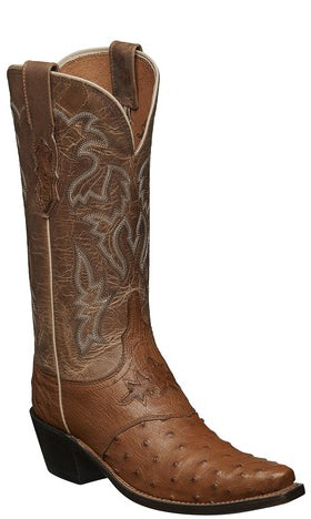Lucchese AUGUSTA M5603.S54 Womens Tan Full Quill Ostrich Boots
