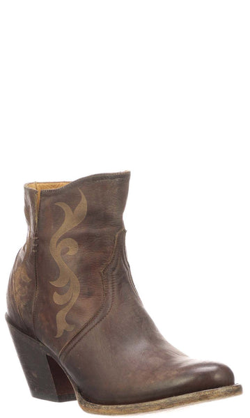 Lucchese ALONDRA M6013 Womens Chocolate Calfskin Boots