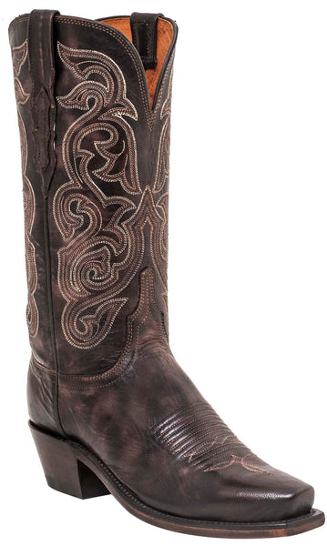 Lucchese ANNIE N4768 Womens Dark Brown Goat Boots
